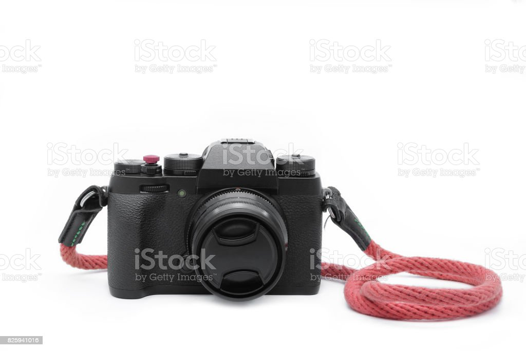 The black camera. stock photo
