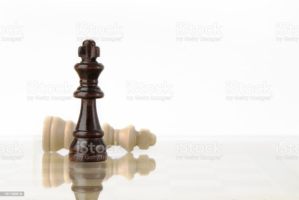 The black king win, checkmate royalty-free stock photo