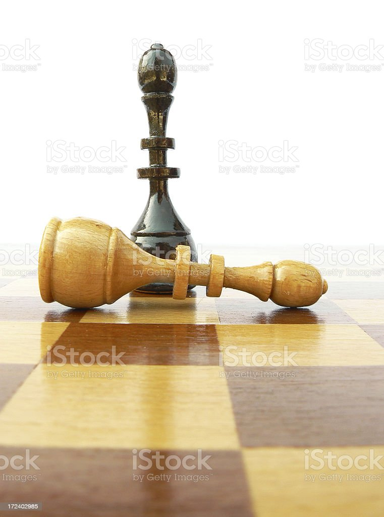 The black king win, checkmate. royalty-free stock photo
