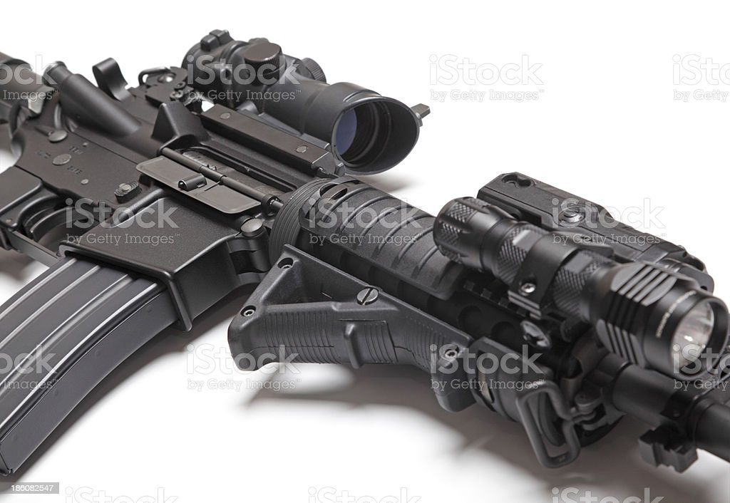 The Black Rifle close-up stock photo