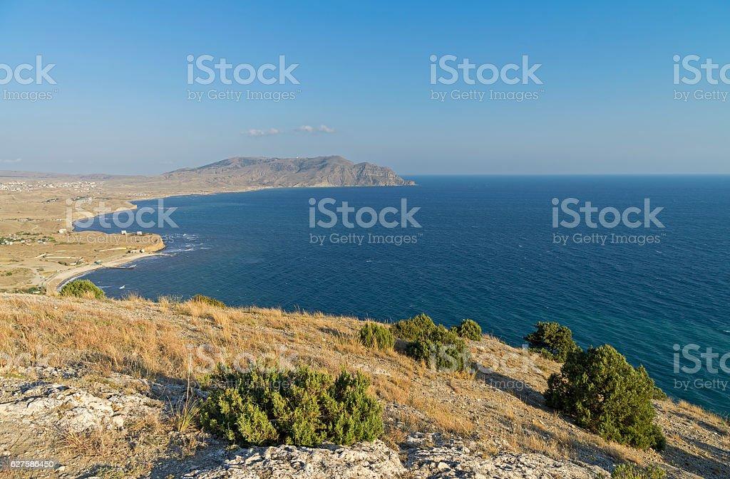 The Black Sea coast. Crimea, September. stock photo