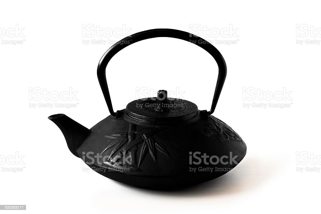 The Black teapot stock photo
