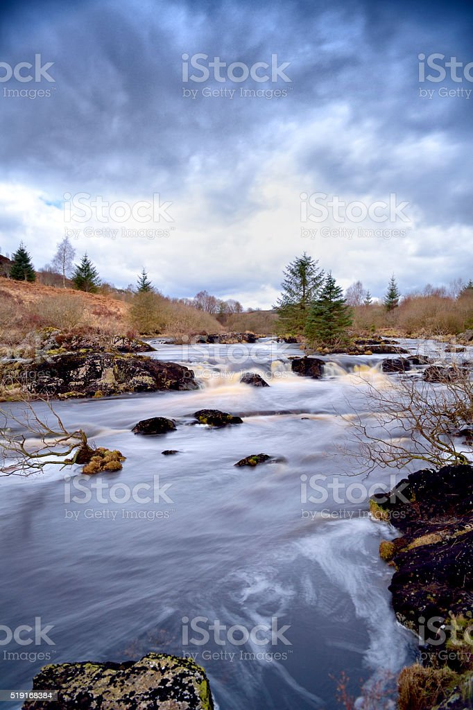 The Black Water of Dee in Dumfries and Galloway stock photo