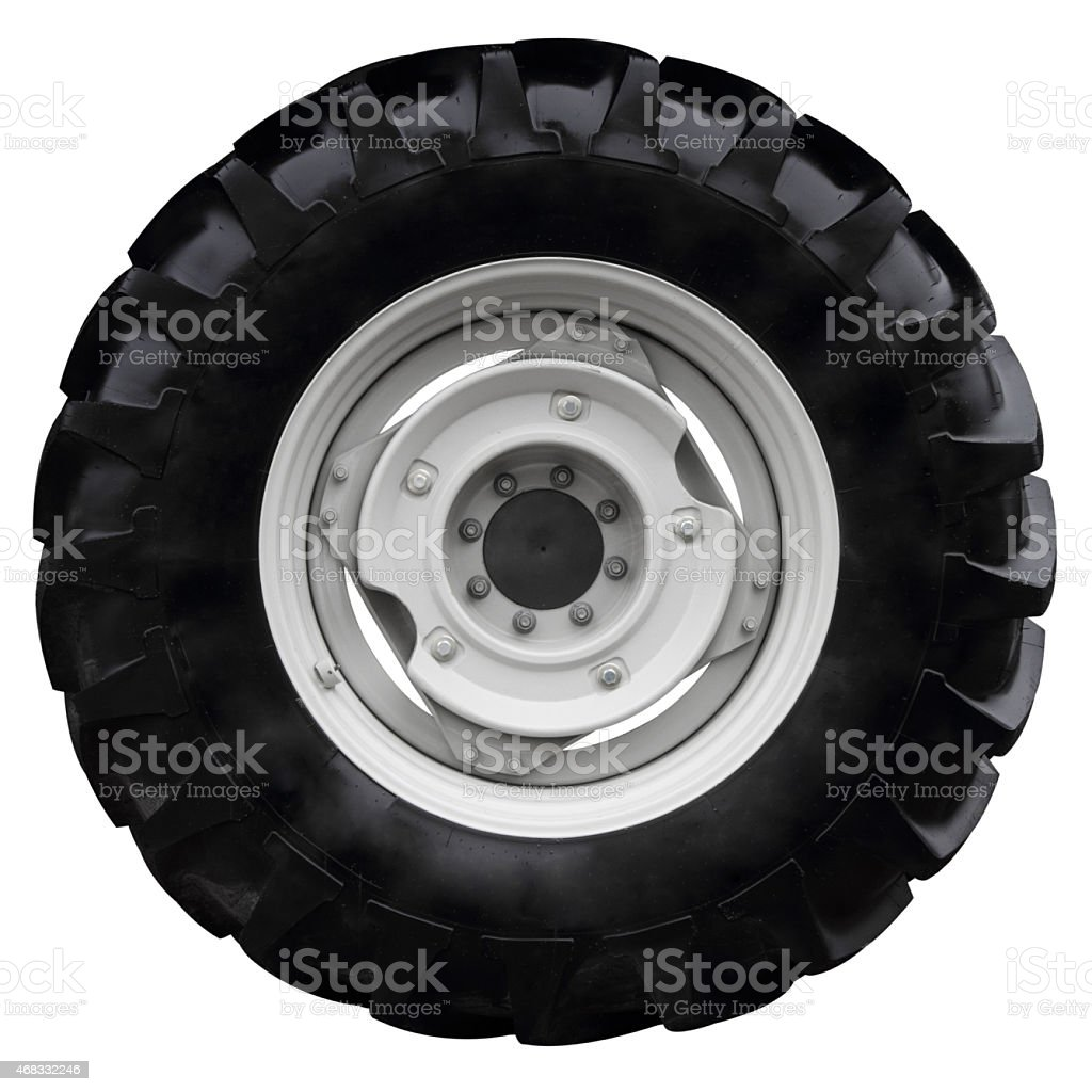 The black wheel stock photo