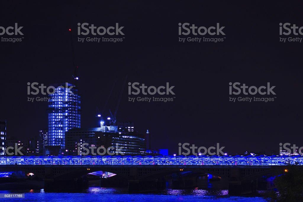 The Blackfriars Railway Bridge - London stock photo