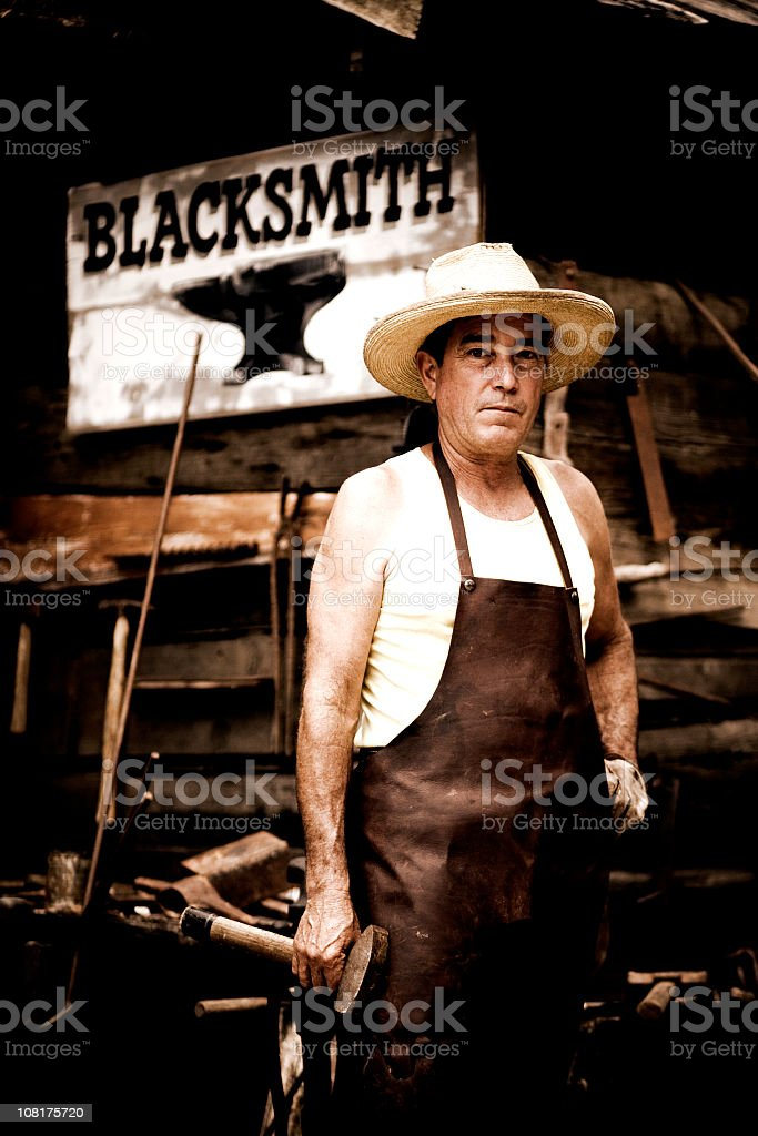 The Blacksmith royalty-free stock photo