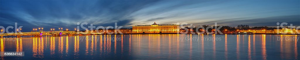 The Blagoveshchensky (Annunciation) Bridge in St. Petersburg, Russia stock photo