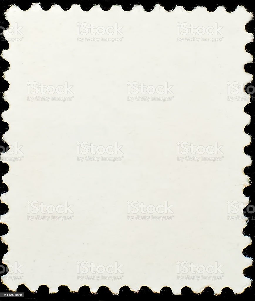 The blank Postage Stamp on black background stock photo