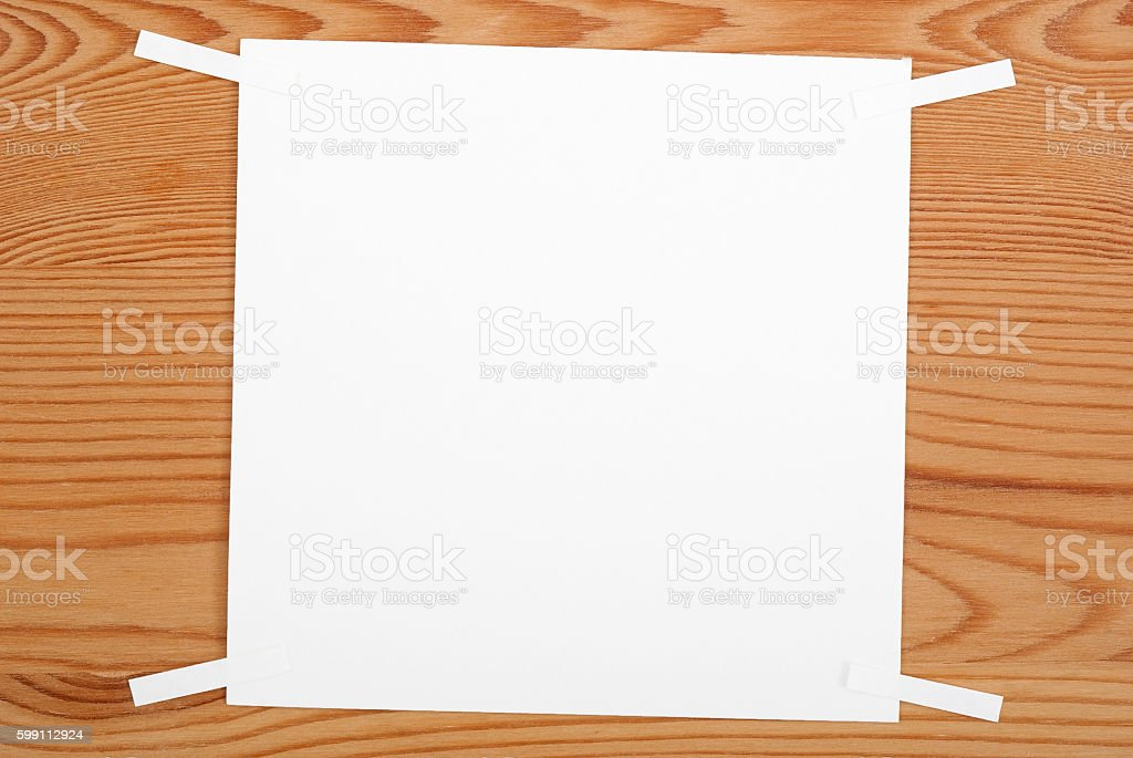 The blank sheet of paper royalty-free stock photo