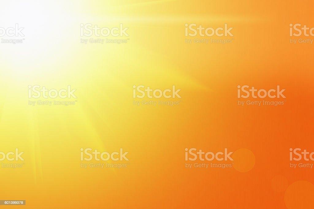 The blazing glory of the sun stock photo