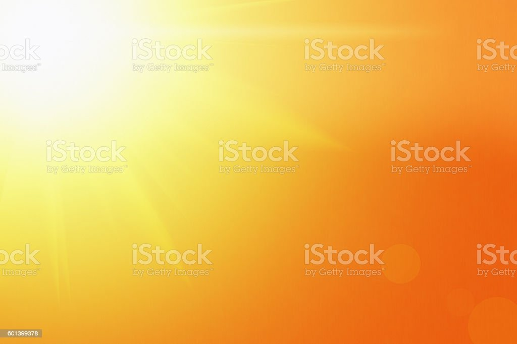 The blazing glory of the sun stock photo
