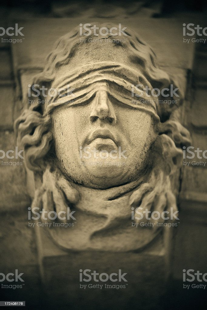 The Blind One royalty-free stock photo