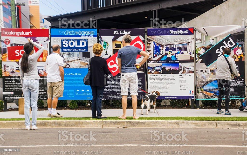 The Block - Blocktagon stock photo