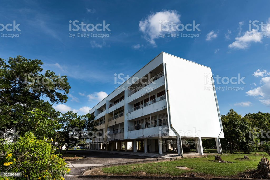 The Block of Flats in Tropical Climate stock photo