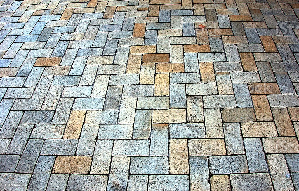 The block pavement royalty-free stock photo