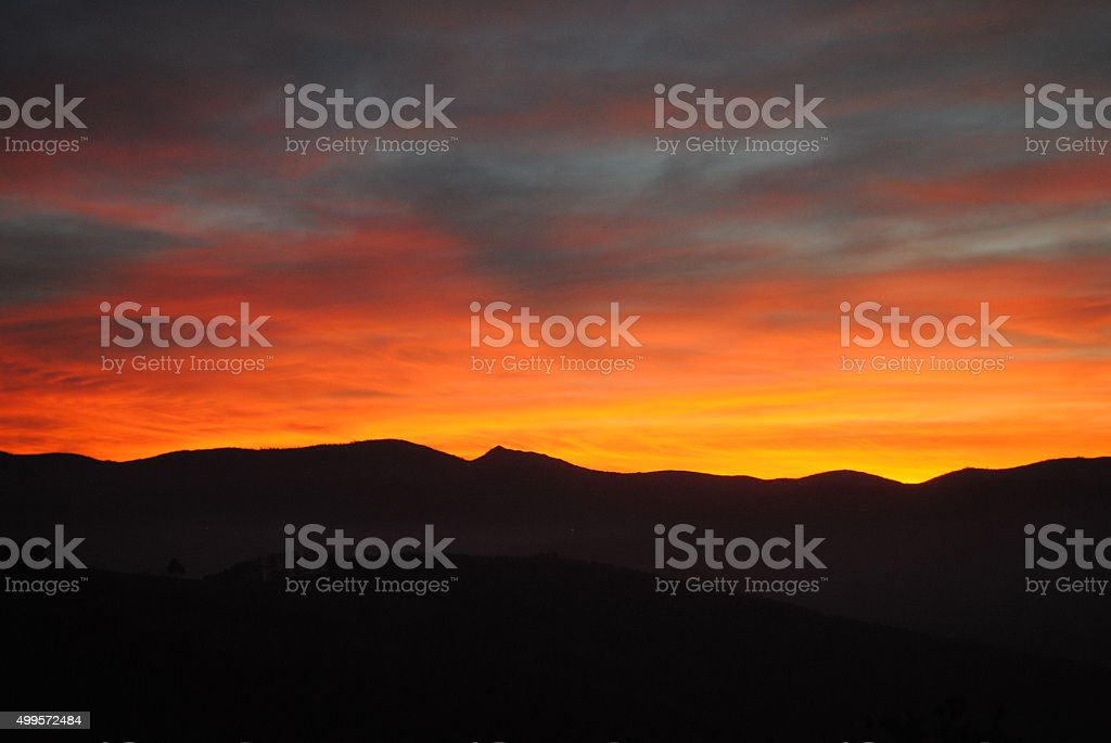 The bloody sky royalty-free stock photo