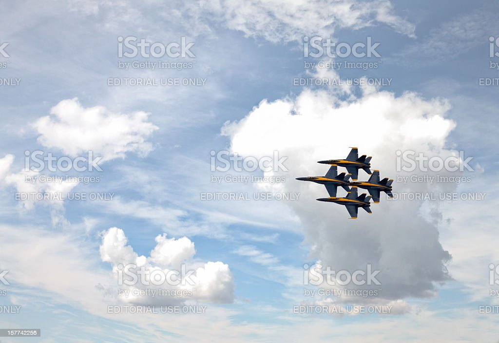 The Blue Angels stock photo