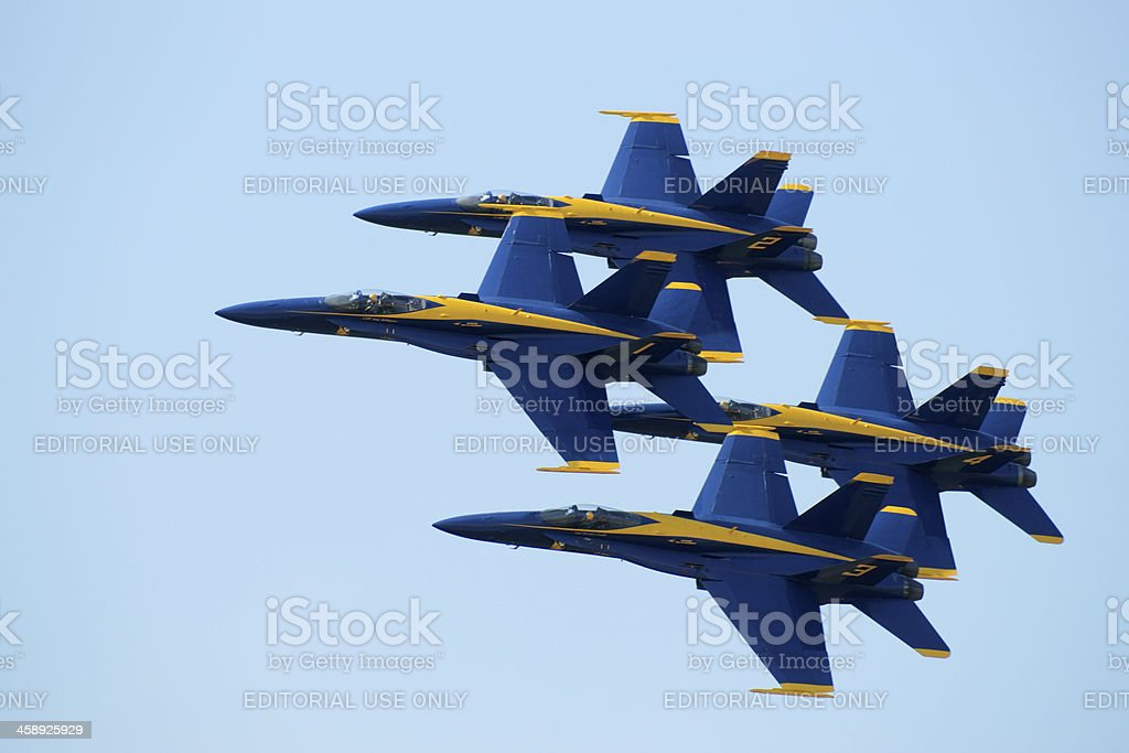 The Blue Angels. stock photo