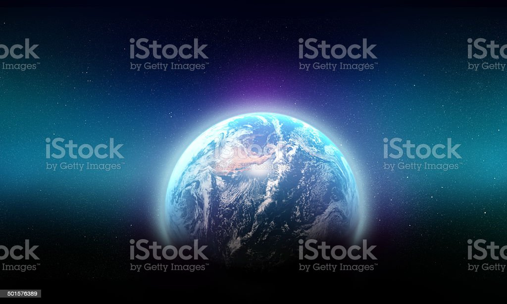 The blue beauty of our galaxy stock photo
