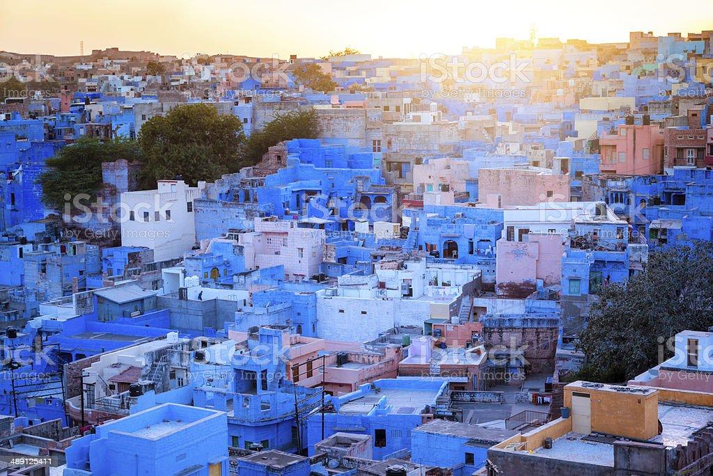 The Blue City, Jodhpur, India stock photo