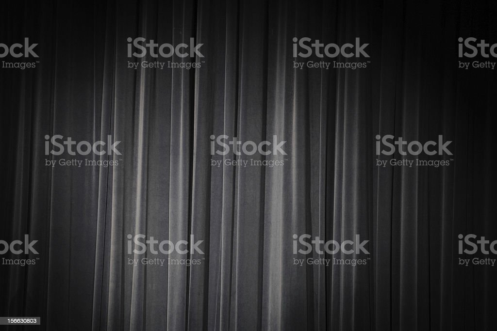 The blue curtain royalty-free stock photo