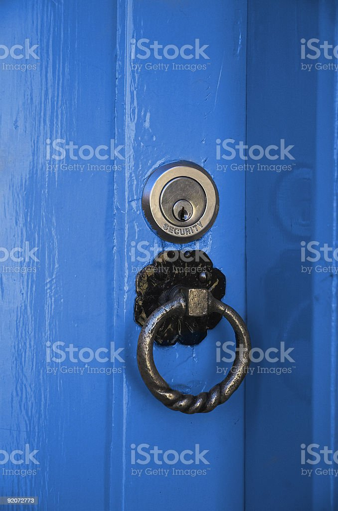 The Blue Door royalty-free stock photo