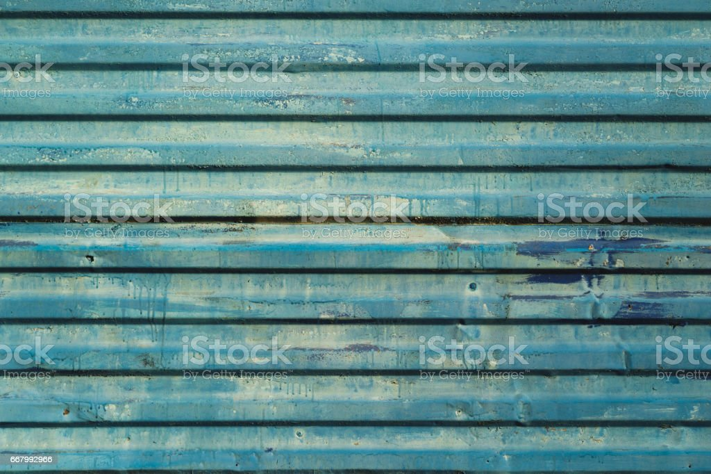 the blue fields wall for fencing construction stock photo