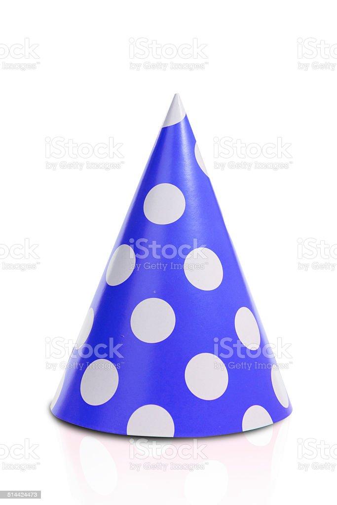 The blue fool's cap stock photo