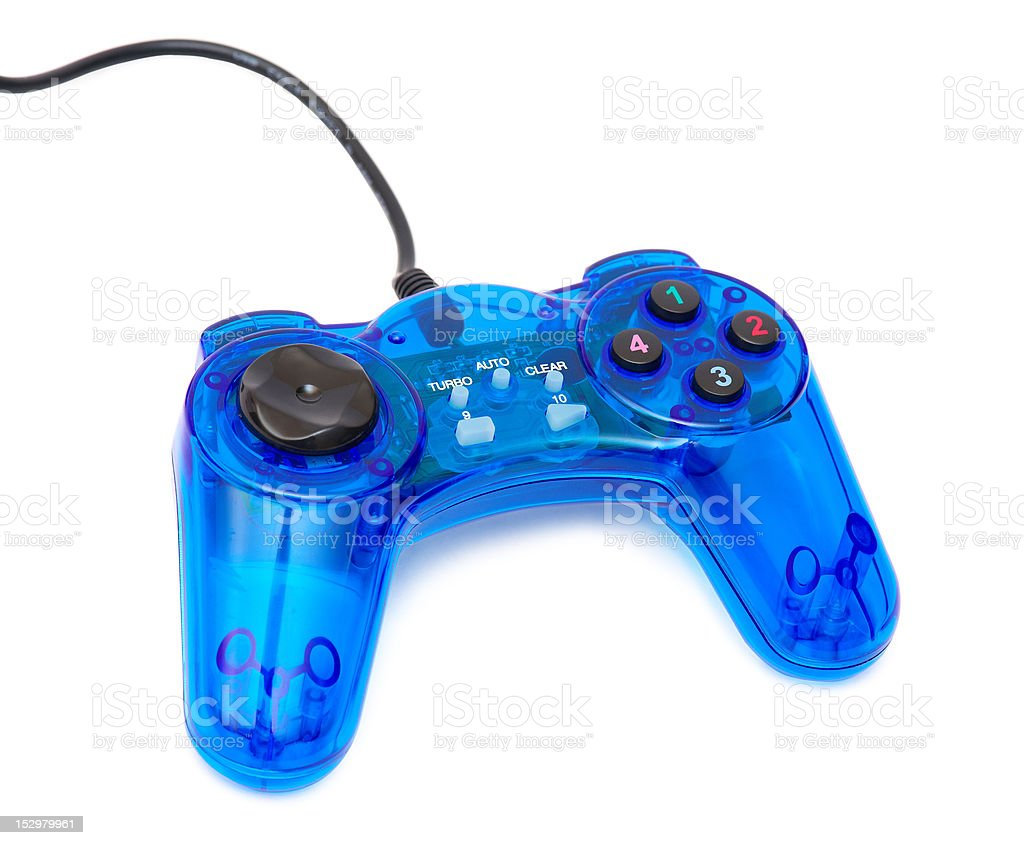 The blue glass game controler royalty-free stock photo