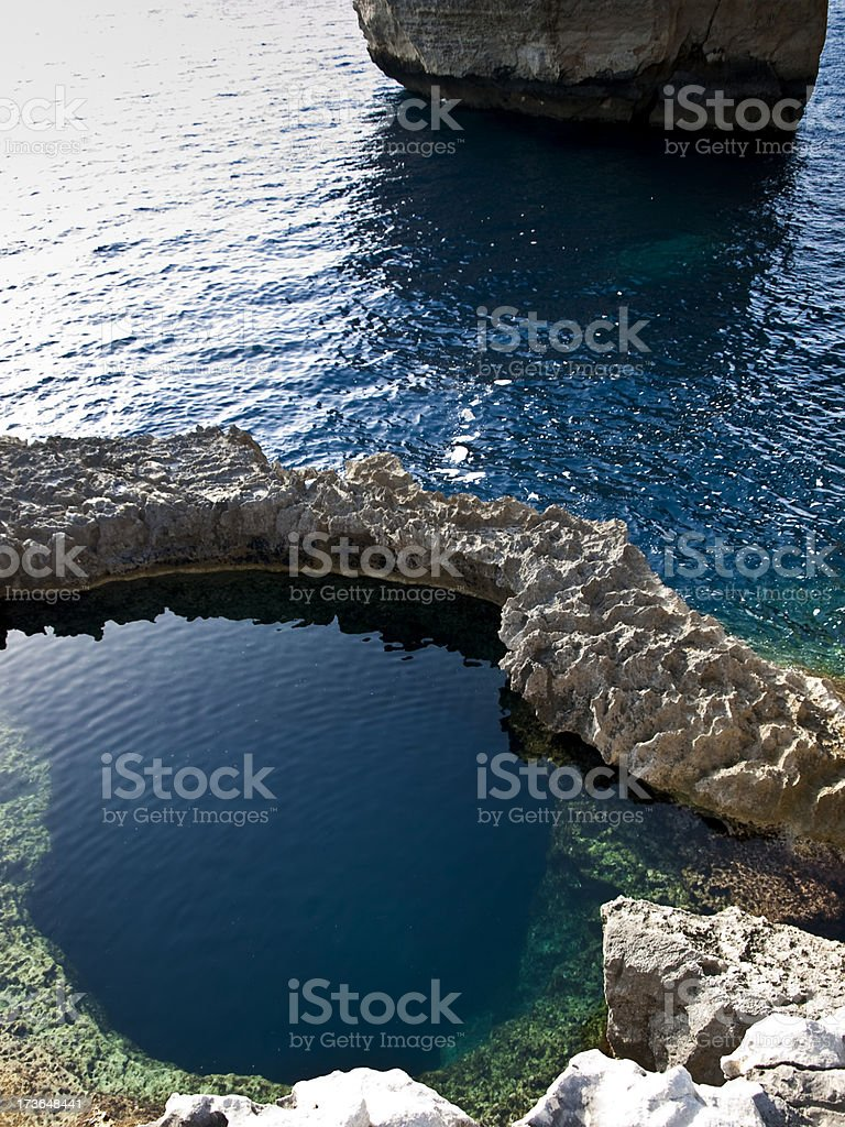The Blue Hole stock photo