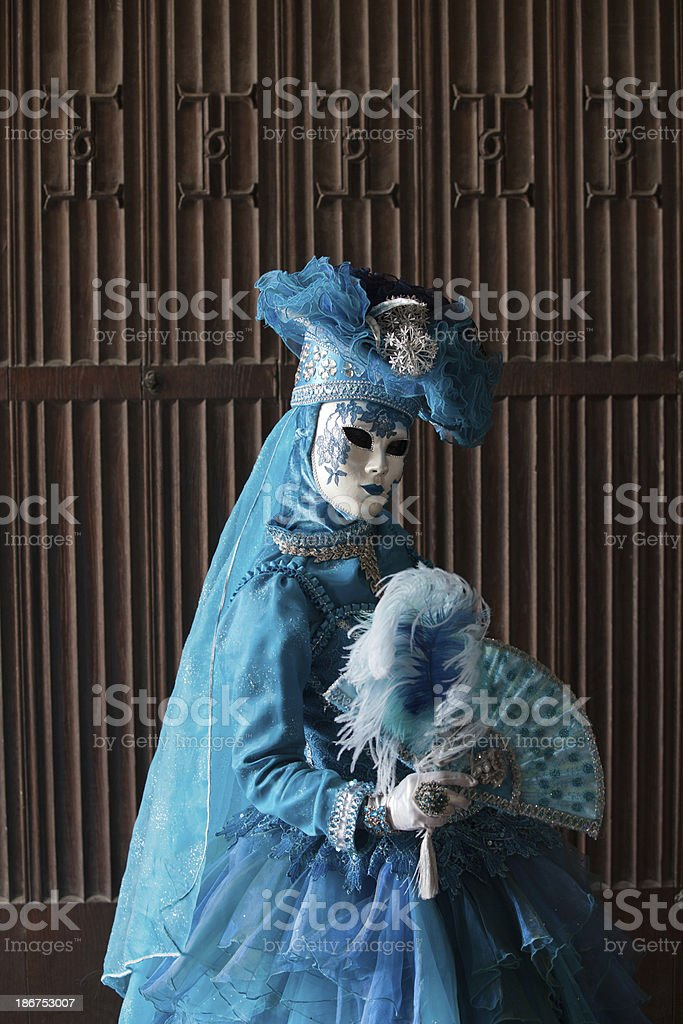 The blue lady royalty-free stock photo