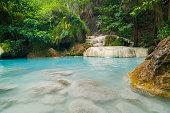 The blue lagoon at Erawan waterfall in Thailand #2