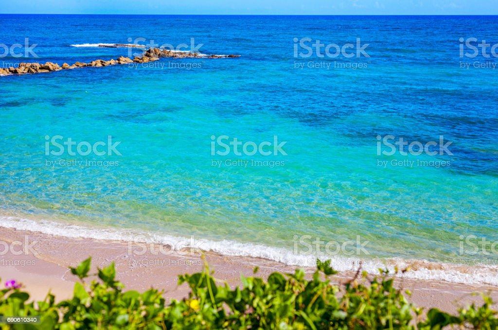 The blue lagoon in Puerto Plata stock photo