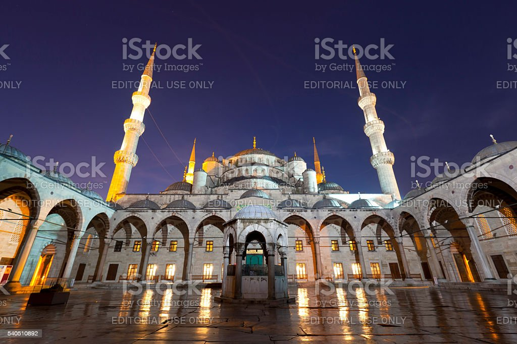 The Blue Mosque in Istanbul,Turkey. stock photo