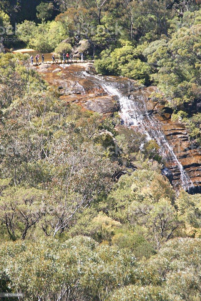 The blue mountain near Sidney in Australia royalty-free stock photo