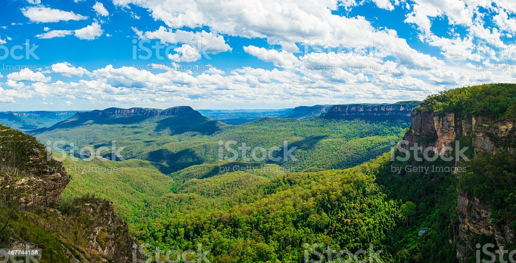 The Blue Mountains Australia stock photo
