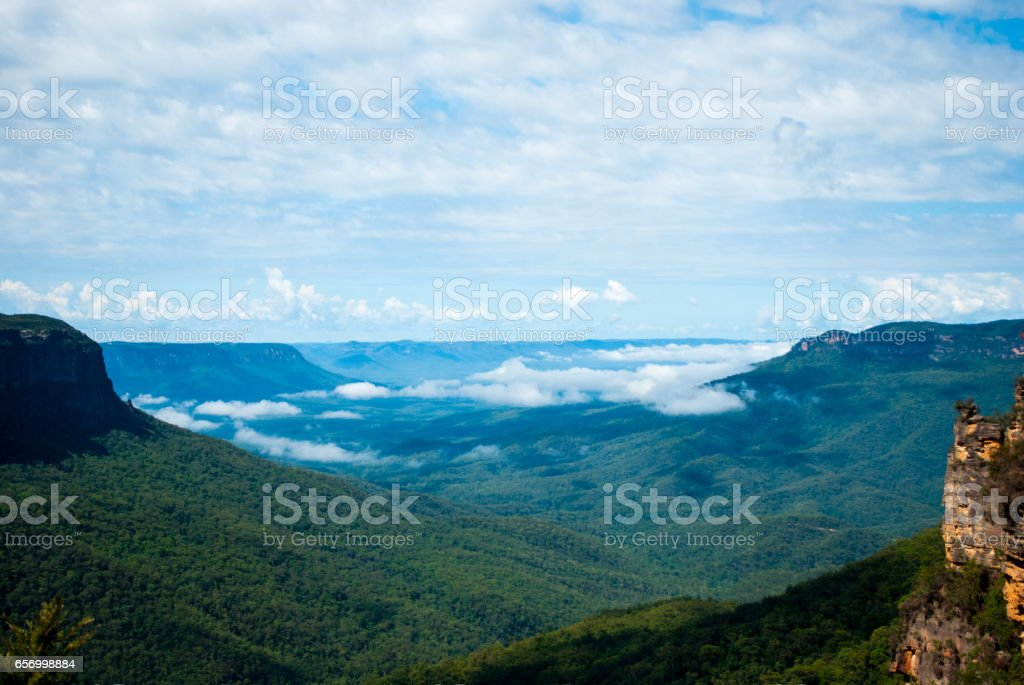 The Blue Mountains, Australia stock photo