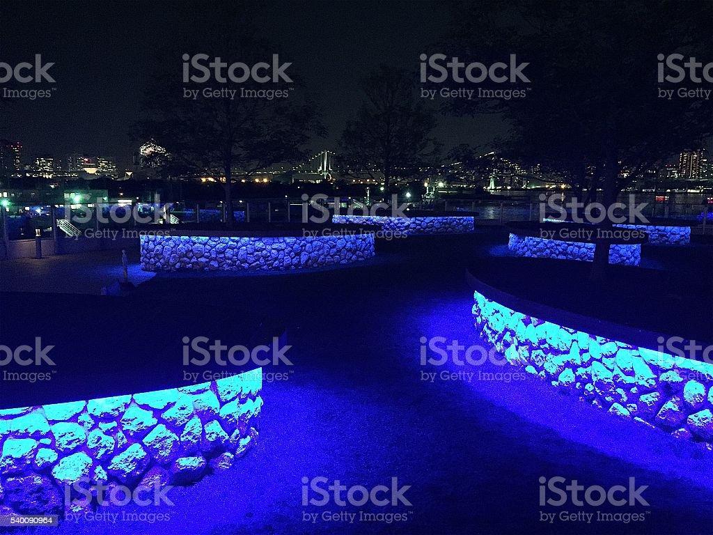 Azul da noite foto de stock royalty-free
