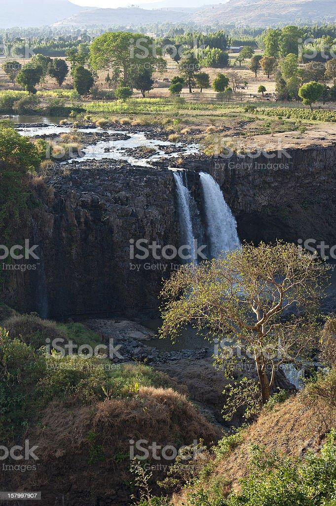 The Blue Nile Falls in Ethiopia stock photo