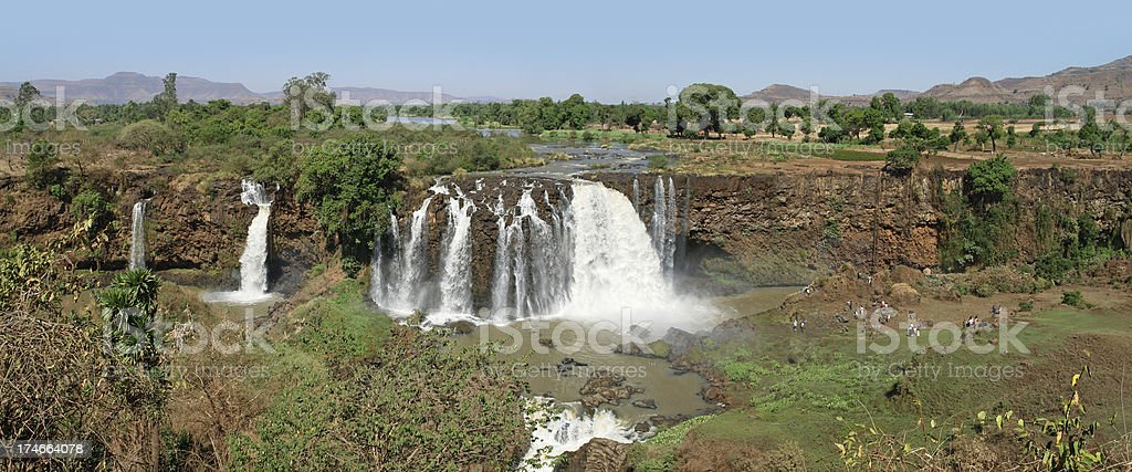 The Blue Nile Waterfalls in Ethiopia stock photo