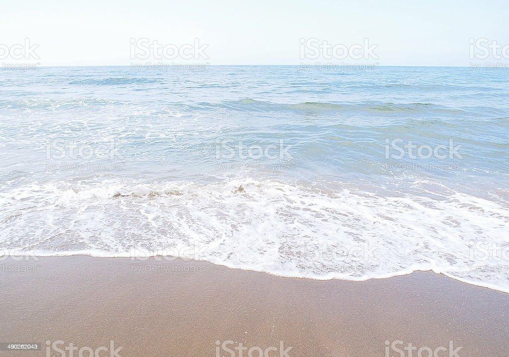 the blue ocean stock photo