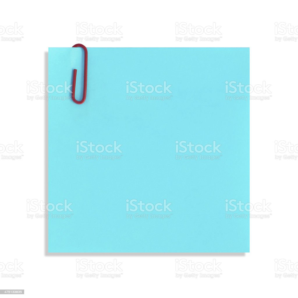 The blue paper notes on a white background royalty-free stock photo