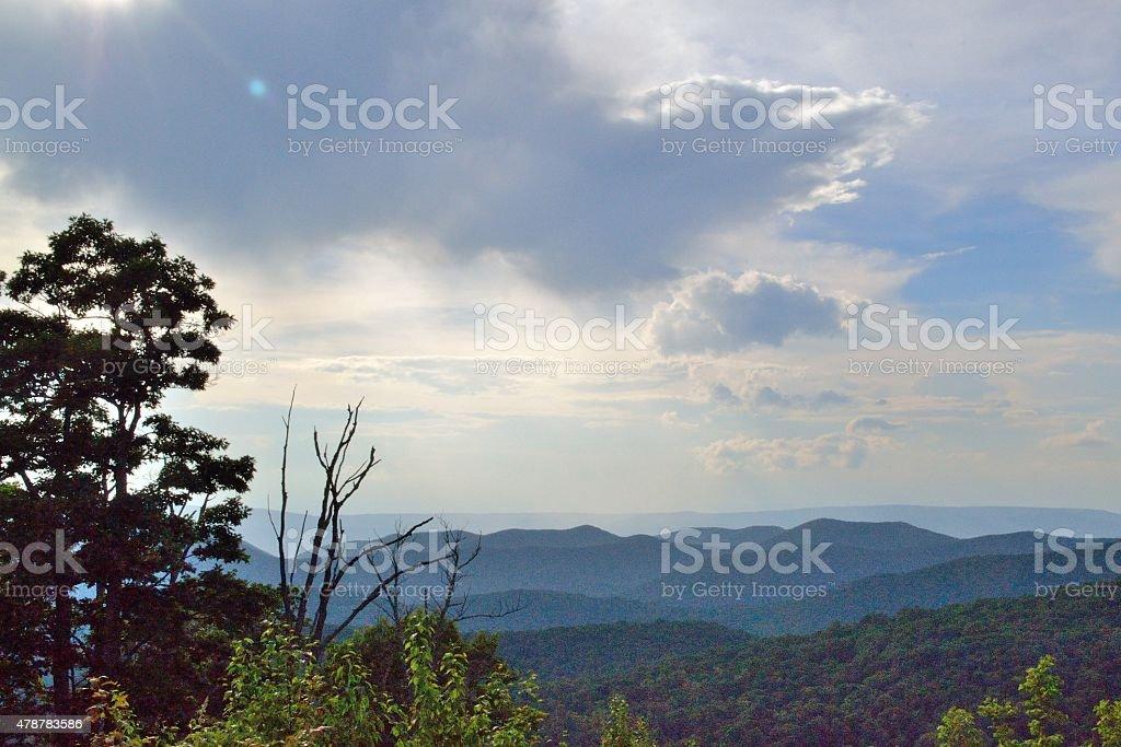 The Blue Ridge Mountains stock photo