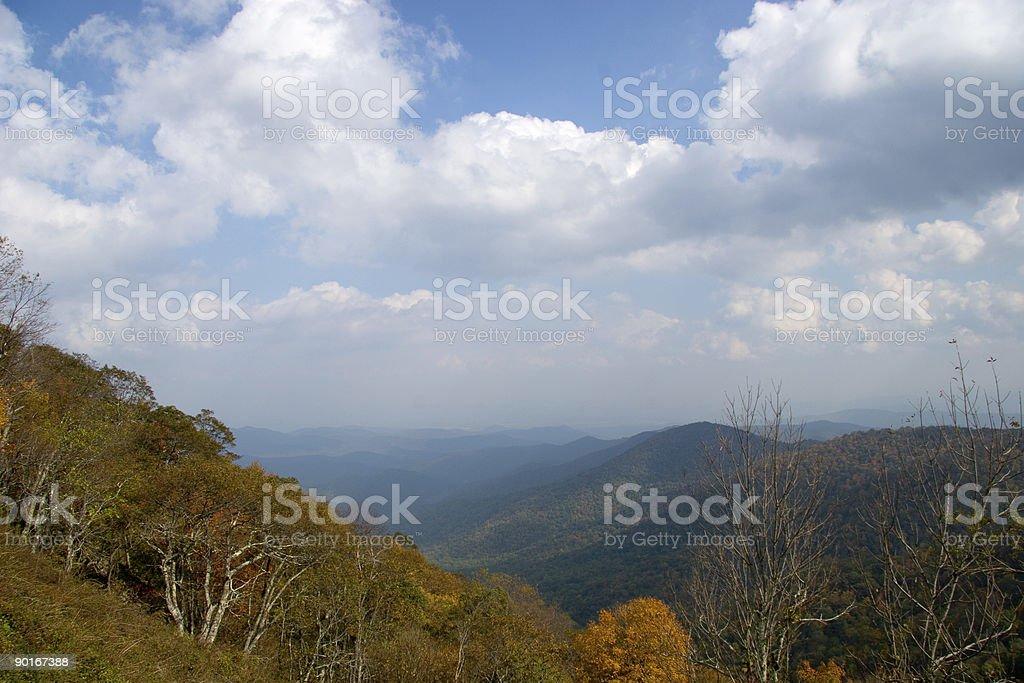 The Blue Ridge Mountains royalty-free stock photo