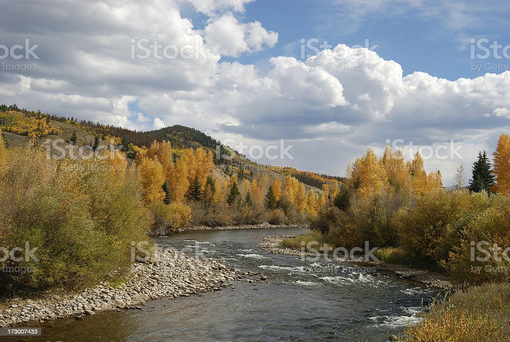 The Blue River stock photo