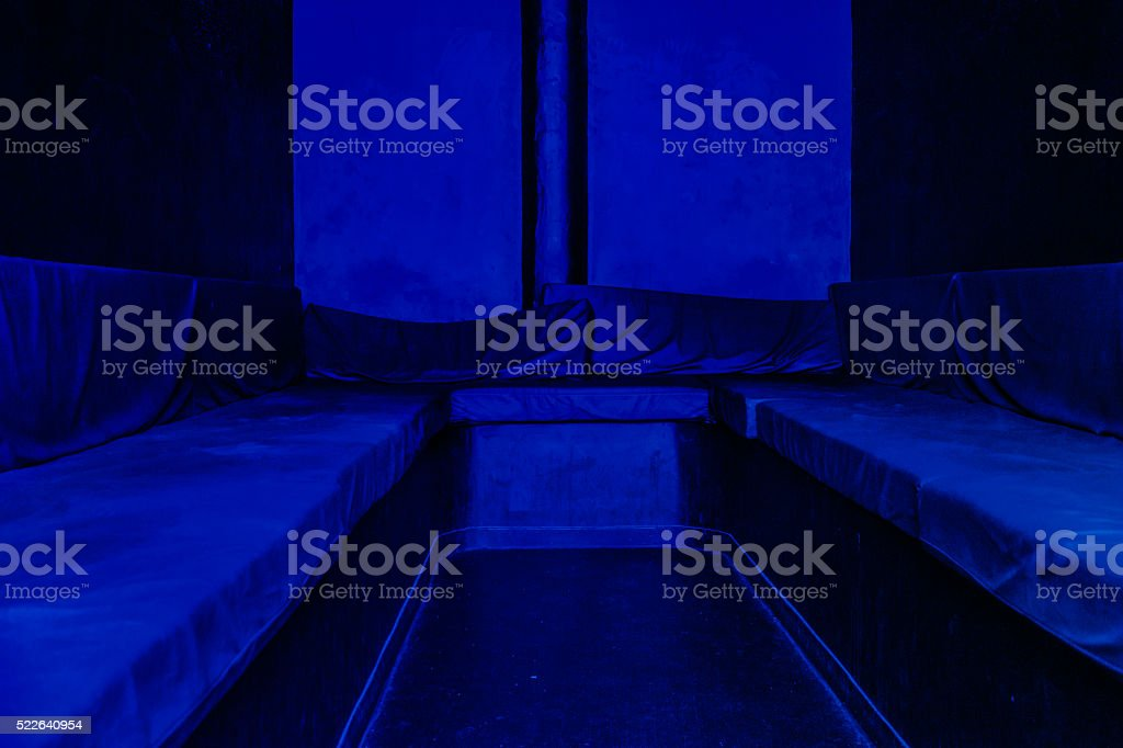 The blue room stock photo