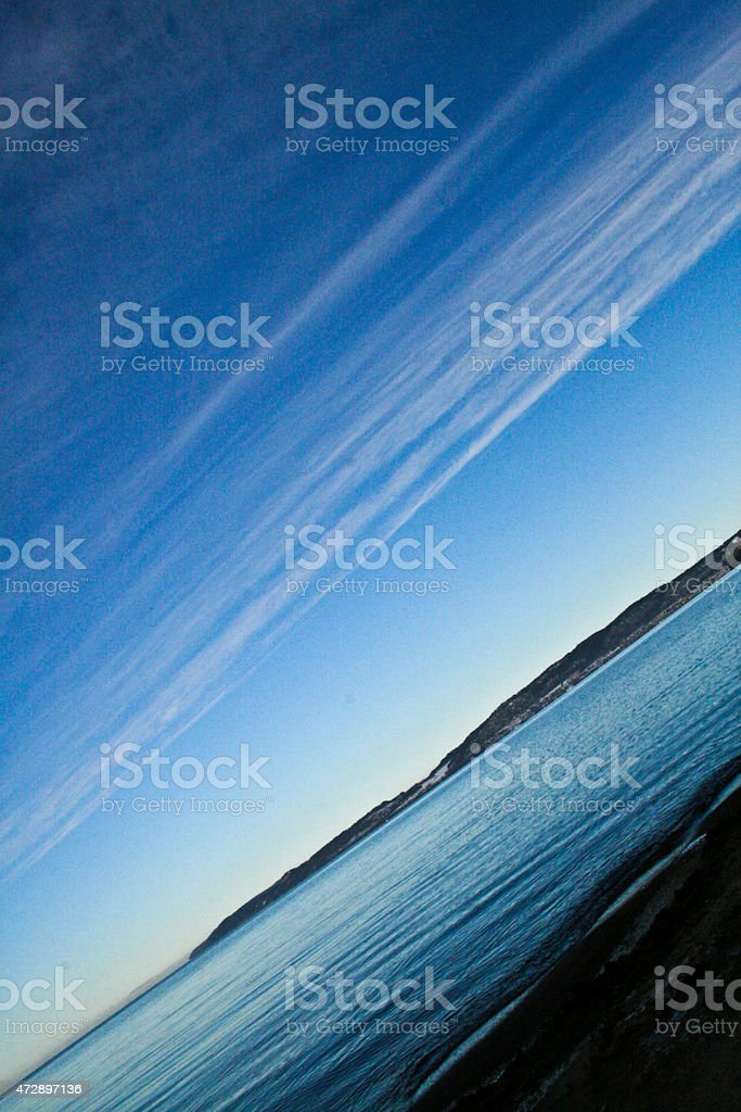 The blue sea and the blue sky royalty-free stock photo