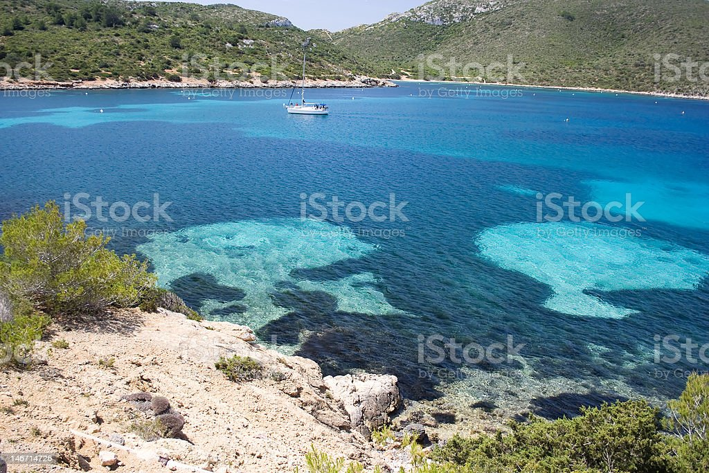 The blue sea. royalty-free stock photo