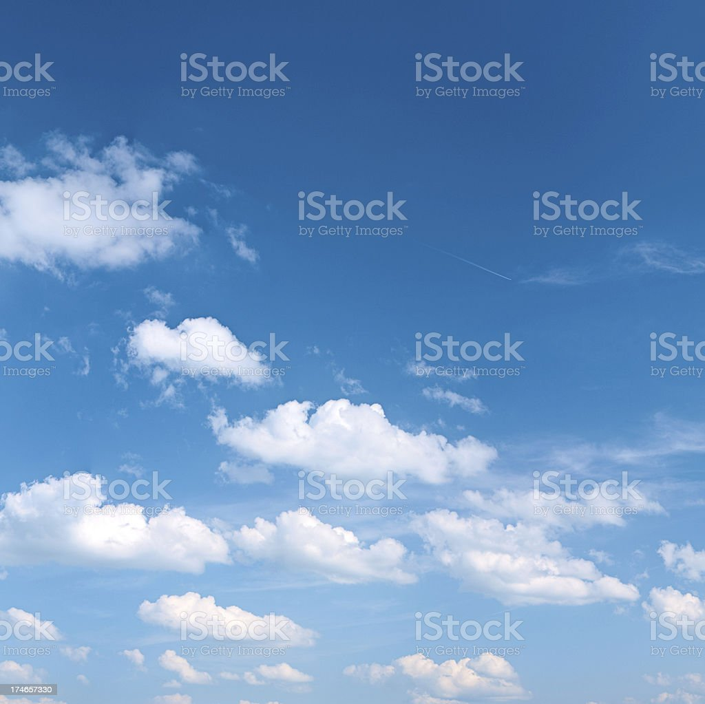 The blue sky 21 MPix - XXXL size royalty-free stock photo
