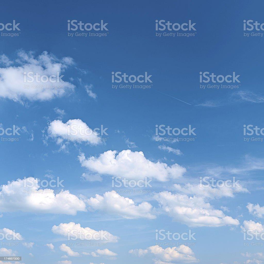 The blue sky 21 MPix - XXXL size stock photo